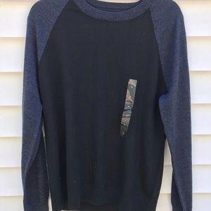 Men's Banana Republic NWT Black Blue Sweater